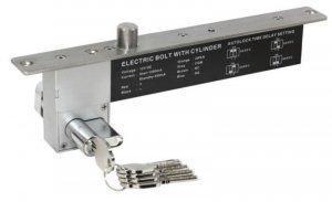 Соленоидный замок Smartec ST-DB526MLT, НЗ, с мех. ключом