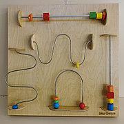 Модуль для развития запястья (движение по проволоке), панель Монтессори развивающая