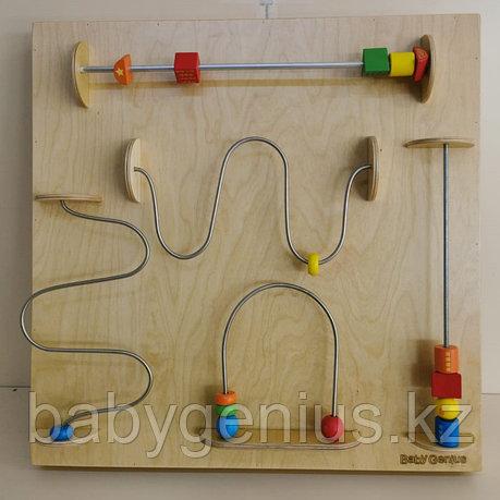 Модуль для развития запястья (движение по проволоке), панель Монтессори развивающая, фото 2