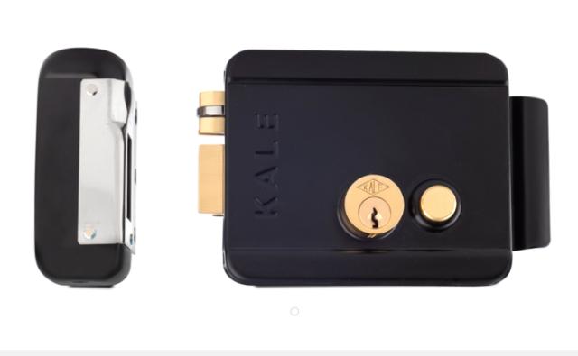 Kale 357MD Замок электромеханический 1 цилиндр+кнопка черный
