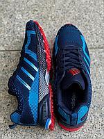 Кроссовки Adidas Marathon 101-7 сине-красный, фото 1