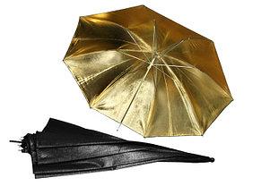 Студийный фотозонт на отражение (золото) 83 см, фото 3