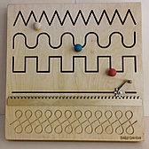 Настенный Модуль для развития запястья (движение по прорези), панель Монтессори развивающая