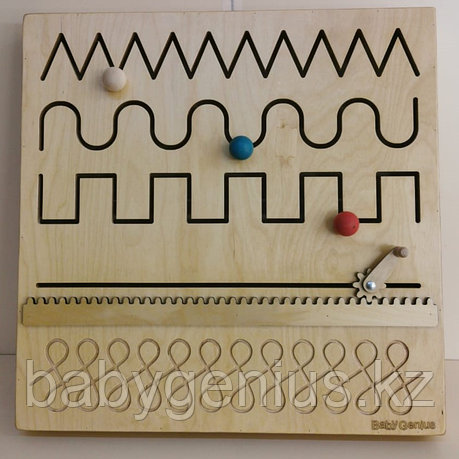 Настенный Модуль для развития запястья (движение по прорези), панель Монтессори развивающая, фото 2