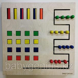 Настенный модуль для подбора цвета и сравнения цветов, панель Монтессори развивающая, фото 2