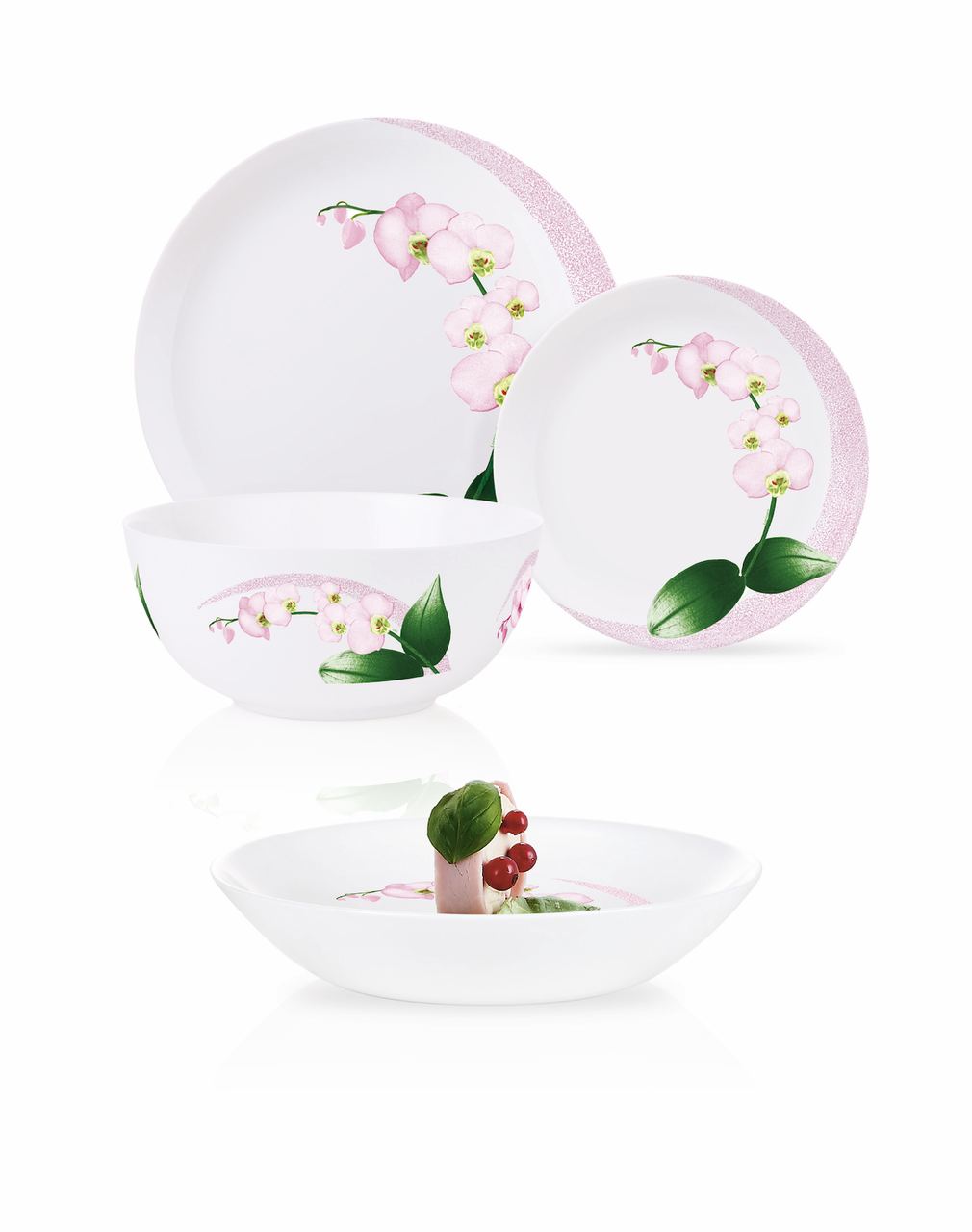 Столовый сервиз Luminarc Diwali Pink Orchid 19 пр.