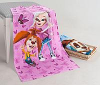 Полотенце велюровое Barboskiny girls, детский, розовый
