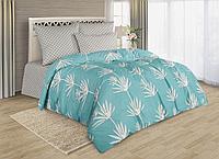 Комплект постельного белья Aruba, листья, голубой