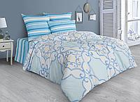 Комплект постельного белья Marbelia, орнамент, голубой