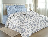 Комплект постельного белья Corsa, орнамент, голубой