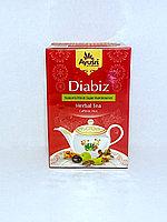 Аюрведический чай при диабете, Диабиз,  Diabiz Herbal Tea, 40 гр, Ayusri