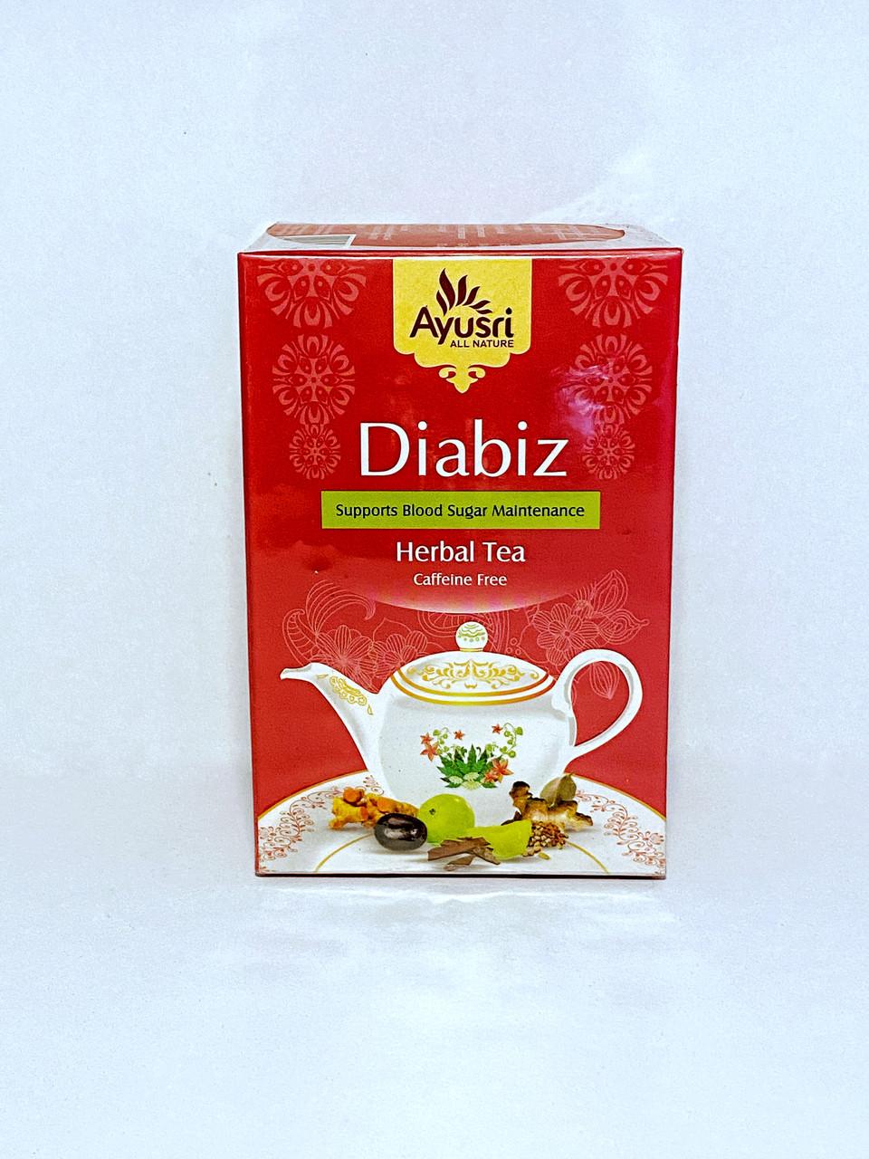 Аюрведический чай при диабете, Диабиз, Diabiz Herbal Tea, 40 гр, Ayusri - фото 1