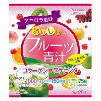 Аодзиру с коллагеном и плацентой со вкусом фруктов, YUWA. Общеукрепляющие витамины, 20 шт * 3 гр