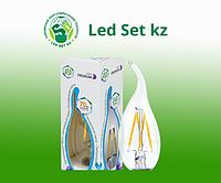 Лампа светодиодная LED-Свеча-PREMIUM 5.0Вт 220В Е27 3000К 450Лм прозрачная