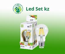 Лампа светодиодная LED-A60-PREMIUM 10Вт 220В Е27 3000К 900Лм прозрачная