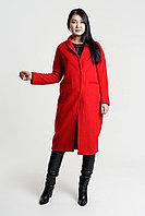 Пальто красное стильное демисезонное