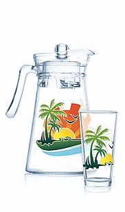 Набор для напитков Luminarc Beach Fun  (7пр.)
