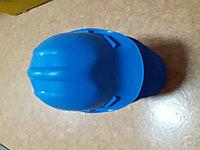 Строительная каска желтая ESSAFE синий