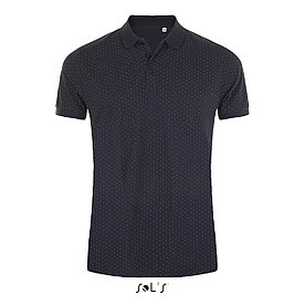 Рубашка поло мужская Brandy, темно-синяя с белым