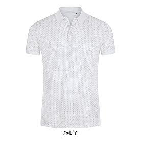 Рубашка поло мужская Brandy, белая с темно-синим