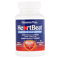БАД HeartBeat, поддержка сердечно-сосудистой системы Natures Plus США (90 таблеток)