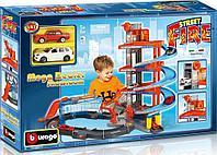BBURAGO: Игр.набор Автосалон Street Fire + 2 машинки