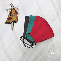 Маска детская текстильная на резинке двухслойная