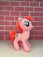 Мультяшные игрушки - 35см (Игрушка Игрушка мягкая- Маленькая понни, нежно- розового   цвета с  коралловой  гривой )