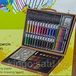 Набор для рисования в деревянном чемоданчике, 158 предметов
