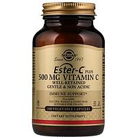 БАД Solgar, Ester-C Plus, Витамин C, 500 мг C (100 капсул)