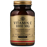 БАД Solgar, Витамин C, 1000 мг C (90 таблеток)