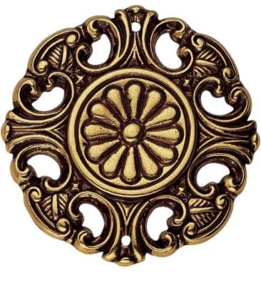 Накладка декоративная, D39мм, латунь пат