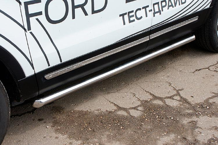 Защита порогов d76 труба Ford Explorer (2018)