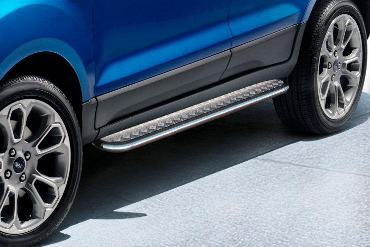 Защита порогов d42 с листом Ford EcoSport (2017)