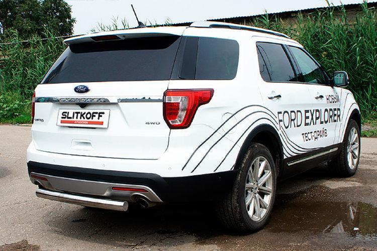 Защита заднего бампера d76 Ford Explorer (2015)