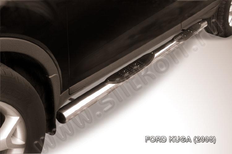 Защита порогов d76 с проступями Ford Kuga (2008)
