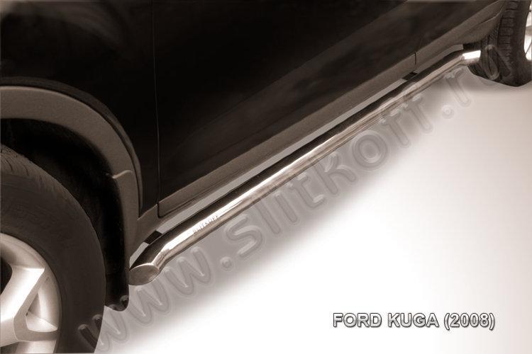 Защита порогов d57 с гибами Ford Kuga (2008)