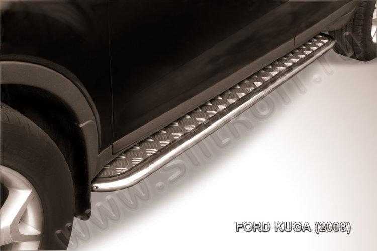 Защита порогов d42 с листом Ford Kuga (2008)