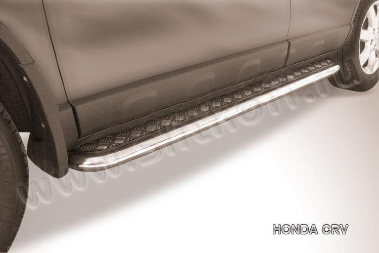 Защита порогов d57 с листом Honda CR-V (2009)