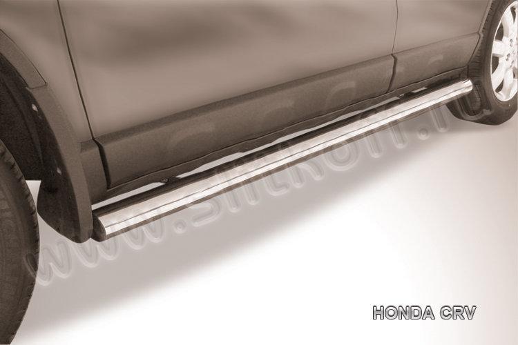 Защита порогов d76 труба  Honda CR-V (2009)