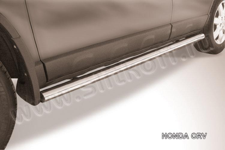 Защита порогов d57 труба  Honda CR-V (2009)