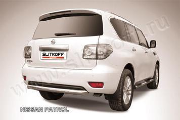 Защита заднего бампера d76 короткая Nissan Patrol