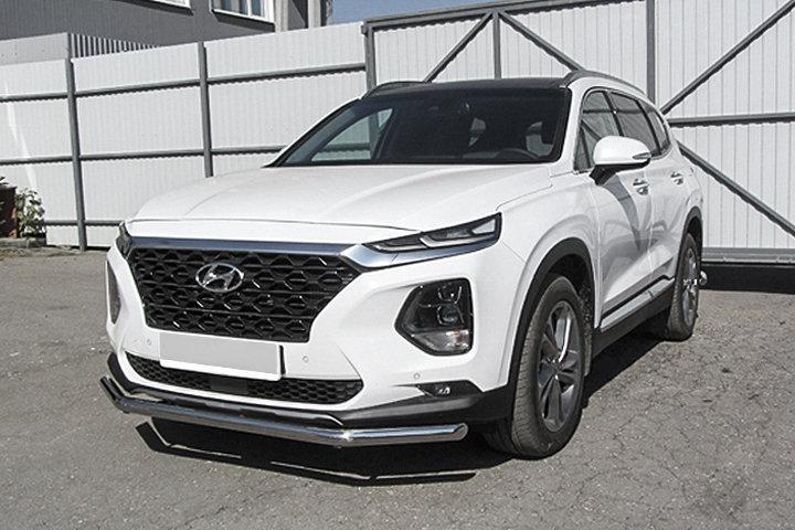 Защита переднего бампера d57 Hyundai SANTA-FE (2018)