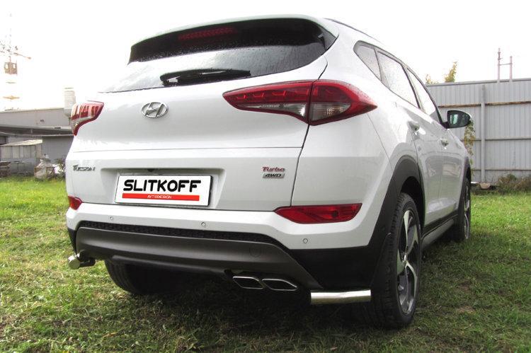 Уголки d57 Hyundai Tucson 4WD (2015)