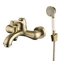 Смеситель для ванны ID OLD4 бронза