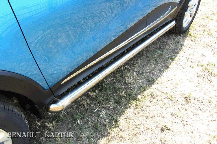 Защита порогов d76 труба Renault Kaptur 4WD 2016