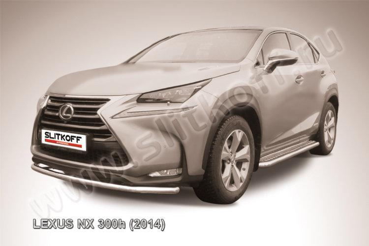 Защита переднего бампера d57 радиусная Lexus NX 300h
