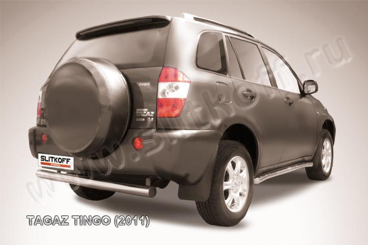 Защита заднего бампера d76  TAGAZ TINGO (2011)
