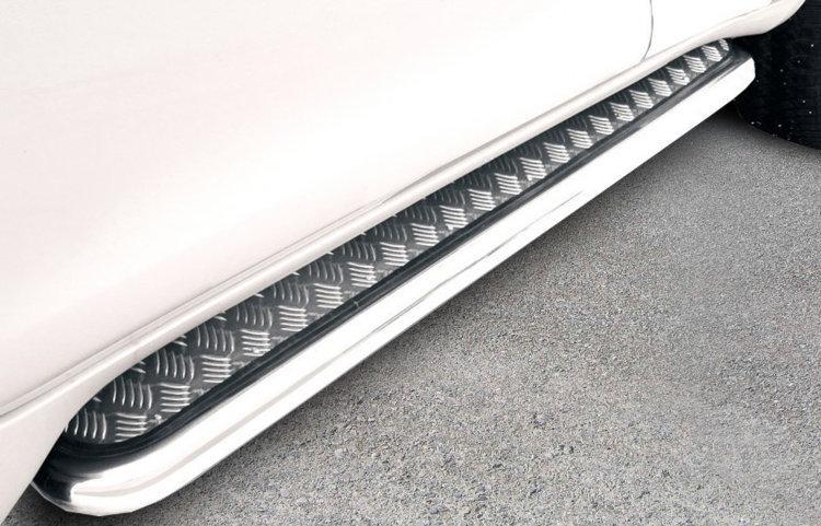 Защита порогов d76 с листом усиленная Toyota Land Cruiser Prado (2017)