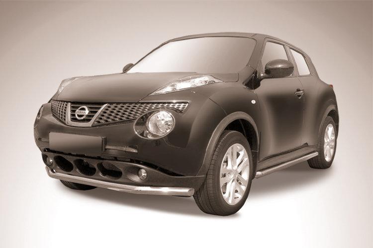 Защита переднего бампера d57 Nissan Juke 4WD (2011)